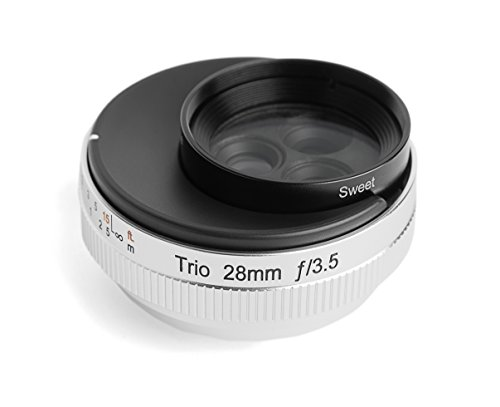 Lensbaby 単焦点レンズ Trio 28 28mm F3.5 フジフイルム Xマウント Sweet/Velvet/twist切替式 マニュアルフォーカス シルバー