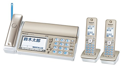パナソニック デジタルコードレスFAX 子機2台付き 迷惑電話対策機能搭載 シャンパンゴールド KX-PD715DW-N