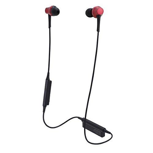 オーディオテクニカ Ver.4.1 Bluetooth対応ワイヤレスヘッドセット(ブリリアントレッド)audio-technica ATH-CKR75BT-RD