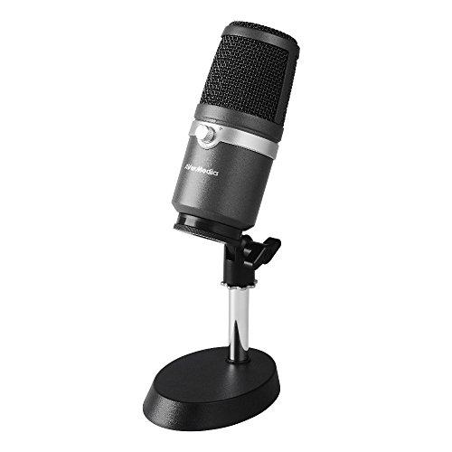AVerMedia USBマイクロホン AM310 [ゲーム実況/ライブ動画配信 高音質の配信/録音に向いているコンデンサーマイクロホン 単一指向性マイク] SP751