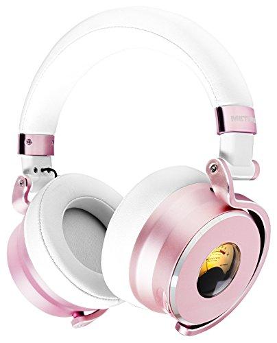 METERS MUSIC メーターズミュージック ASHDOWN LEDライト VUメーター搭載 ノイズキャンセリング 重低音 オーバーヘッドフォン iOS対応リモコン付き ホワイト/ローズゴールド M-OV-1-ROSE