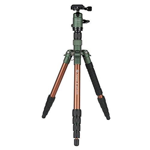 Fotopro 三脚 / 一脚 X-go Gecko MATT GN 5段 22mm 小型 トラベル アルミ 自由雲台 マットグリーン 816771