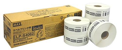 マックス ラベル 上質感熱紙 ラベルプリンタ用 6巻入 LP-S4062