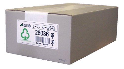 エーワン コンピュータフォーム荷札 5.5インチ幅 4面 500折 28036