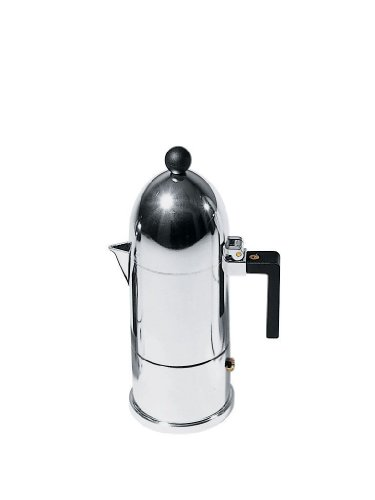 【正規輸入品】 ALESSI アレッシィ La cupola エスプレッソコーヒーメーカー/3カップ用 ブラック A9095/3 B