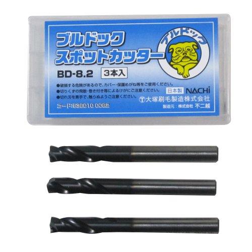 大塚刷毛 ブルドック スポットカッター BD-8.2×80 3本入