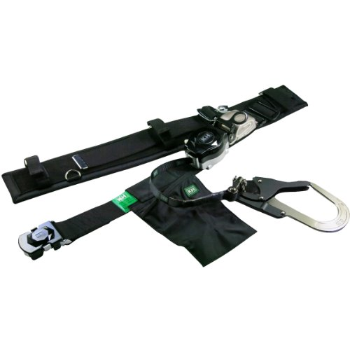 KH 安全帯 サポーター付 アリールロック式 タフアルミ 自在環 アロッキー ブラック/ブラック HJA01L-K