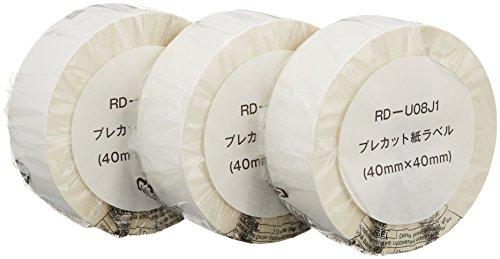 ブラザー工業 TD-2130N/2130NSA用 プレカット紙ラベル 3ロール入り RD-U08J1