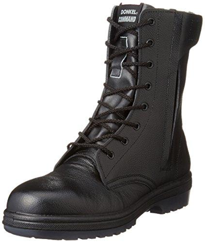 [ドンケル] 安全靴 長編上ブーツ ラバー2層底 耐滑 耐延焼 JIS T8101革製S種E・F合格 R2-04T ブラック 27.5