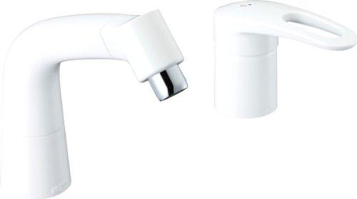 LIXIL(リクシル) INAX マルチシングルレバー混合水栓(湯側開度規制付) 吐水口長さ145mm ピュアホワイト LF-HX360SRHK(500)/BW1