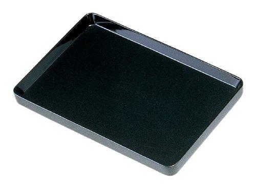 中西工芸 木製切手盆(切立) 黒 33cm 0103004