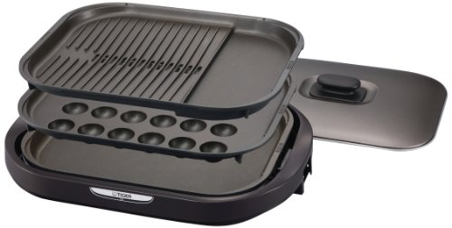 タイガー ホットプレート 「これ1台」 平面・たこ焼き・焼肉プレート付き ブラウン CRC-A300-T