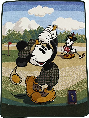 UCHINO Disney シェニール ミッキー&ミニー ゴルフバスタオル 50×70cm グリーン 4080B236 G
