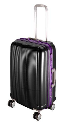 キャプテンスタッグ グレル トラベルスーツケース TSAロック付きHFタイプ M ブラック UV-11