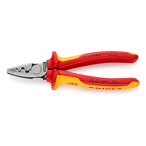 KNIPEX 9778-180 エンドスリーブ用絶縁圧着ペンチ 9778-180