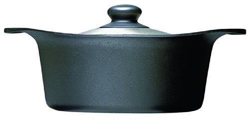 柳宗理 南部鉄器 鉄鍋 深型 22cm ステンレス蓋付