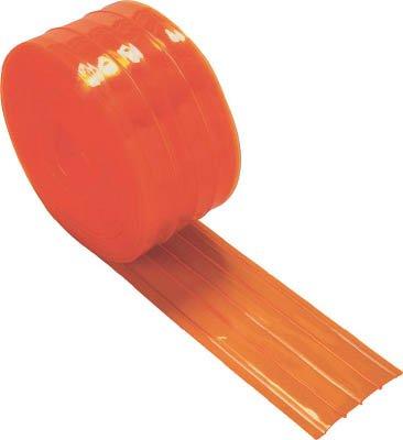 TRUSCO ストリップ型リブ付き間仕切りシート防虫オレンジ2X200X30M TSRBO22030