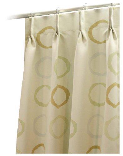 【リリカラ】 高機能 デザインカーテン (遮光1級/ウォッシャブル/防炎) 幅150×丈200 1枚 ライトベージュ 日本製 FD51320