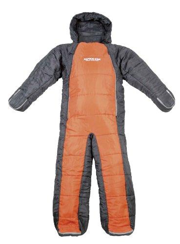 キャプテンスタッグ 寝袋 洗える人型シュラフ オレンジ×グレー [最低使用温度10度]