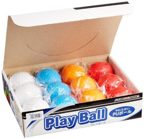 激安挑戦中 PU カラー野球ボール 高級な 12個入りBOX