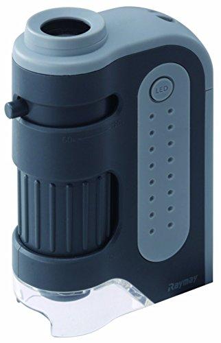 使い勝手の良い レイメイ藤井 顕微鏡 ハンディ RXT203N 数量限定アウトレット最安価格 ZOOM グレー