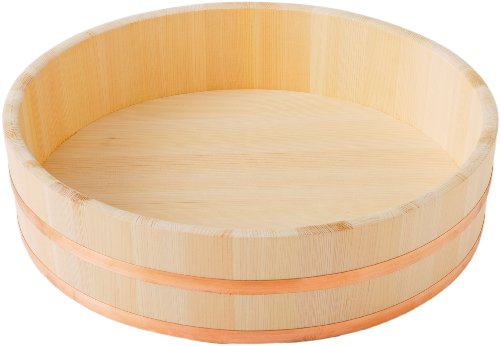 池川木材 寿司桶 木曽さわら 寿司飯台 海外限定 安心の実績 高価 買取 強化中 銅 45cm 箍