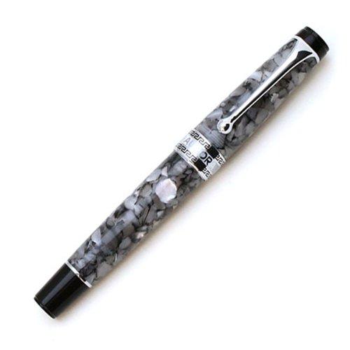 アウロラ 万年筆 F 細字 オプティマ 996-CGF ブラックパール 吸入式 正規輸入品