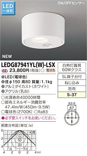 東芝(TOSHIBA) LEDアウトドアシーリング LED一体形 LEDG87941YL(W)-LSX