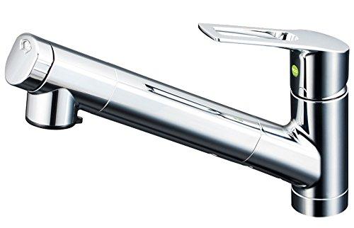 KVK 浄水器内蔵シングルレバー混合水栓(eレバー・引出しシャワー) KM6001EC