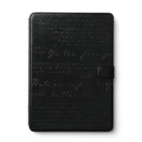 【日本正規代理店品】Zenus iPad Air 2 ケース [スタンド機能付] Lettering Diary ブラック ダイアリータイプ Z5264iPA2