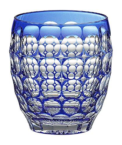 カガミクリスタル ロックグラス(紫陽花) 240cc 江戸切子 伝統工芸士鍋谷聰作 T727-2684CCB