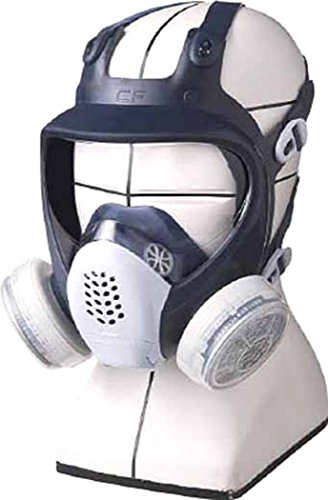 シゲマツ 直結式小型全面形防毒マスク GM185CM