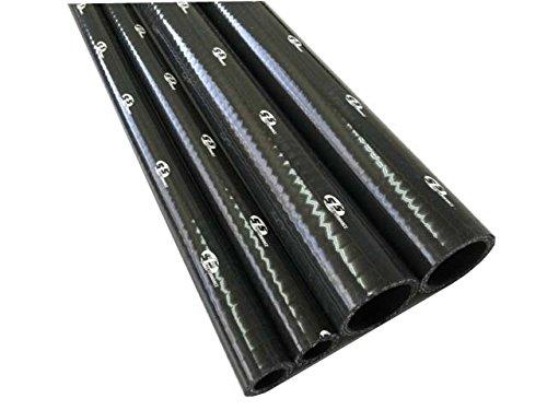 シリコンホース 35mm内径x1000mm長 肉厚:4.5mm 3PLY ブラック SLH35BK