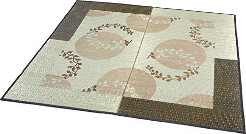 大島屋 い草 ラグ イ草 袋織ラグ レヴェリー 約3帖 フローリング対応 い草 ブラウン 約191×250cm