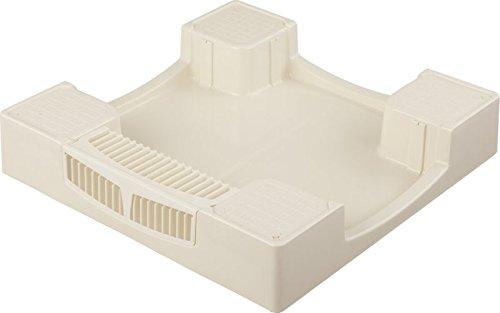 セーフガードパン 寸法:W640×D640×H120 色:アイボリーホワイト 材質:PP樹脂
