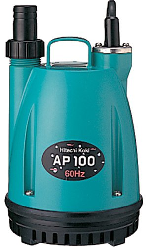 日立工機 水中ポンプ 吐出量10L/分 口径15mm/25mm共用 漏電遮断器付 AP100 60Hz