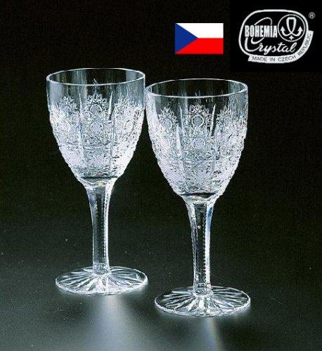 ボヘミア 500PKカットペアワイングラス