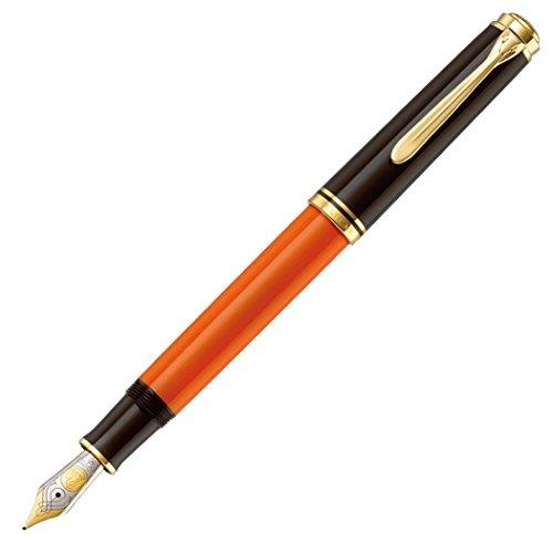 ペリカン 万年筆 M 中字 バーントオレンジ スーベレーン M800 吸入式 限定 正規輸入品