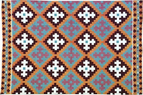 MISC. インド綿 織り コットン フロア ラグ 180×120cm キリム
