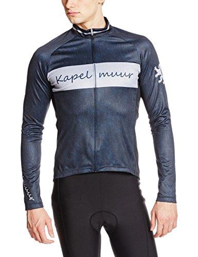 (カペルミュール)KAPELMUUR サイクリング 長袖サイクルジャージ デニムプリント インディゴ メンズ/レディース kpls028 インディゴ M
