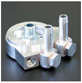 亀有エンジンワークス:FJ20用オイルブロック CONTLオイルクーラー・油温計・油圧計センサー取り出し・DR30・S110・S12