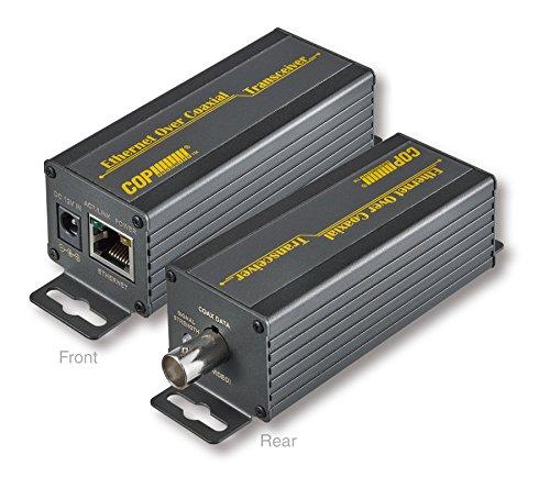 同軸LANコンバーター 最大伝送距離2.5km、最大伝送速度75Mbps ネットワークカメラ、IPカメラのカメラ工事に!