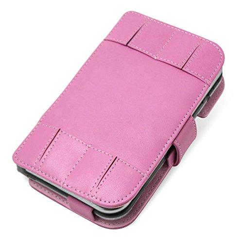 PDAIR レザーケース for Newニンテンドー3DS LL 横開きタイプ(ペタルピンク) PALCNEWN3DSLLB/PP