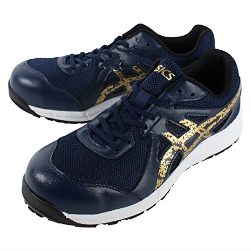 [asics working] 安全靴・作業靴 FCP106 4994 オーシャンブルー/ゴールド 25.5