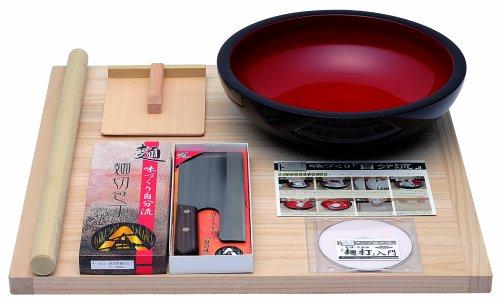 豊稔企販 普及型麺打セット そば・うどん麺打入門DVD付 A-1200