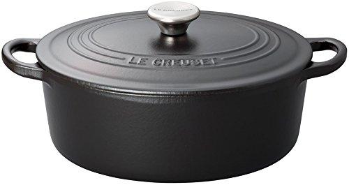 ルクルーゼ ココット オーバル 29cm マットブラック 2502-29-00 【日本正規販売品】