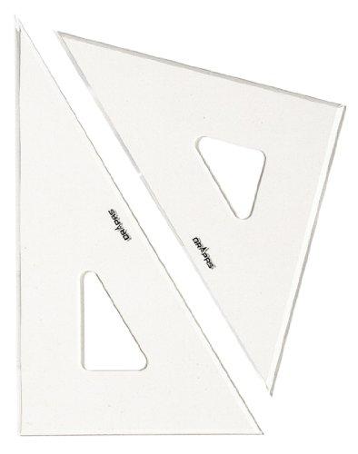 ドラパス 三角定規 目盛なし 3mm厚 60cm 13037