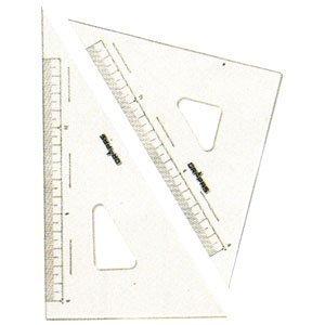 ドラパス 三角定規 目盛付 国内即発送 10%OFF 13123 2mm厚 24cm