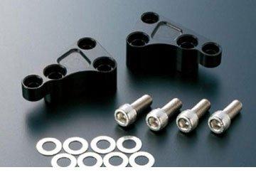 アクティブ(ACTIVE) フロントキャリパーサポート/ブラック brembo 40mm&φ320ローター対応 【GPZ900R(A7-A11)/ZEPHYRχ/ZRX400など】 1477005B