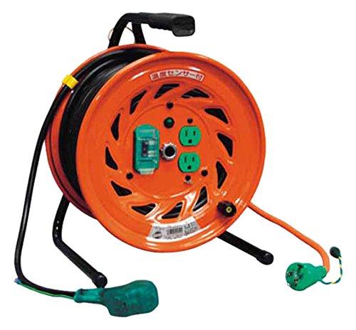 日動 電工ドラム びっくリール 100V アース漏電しゃ断器付 30m RNDEB30S